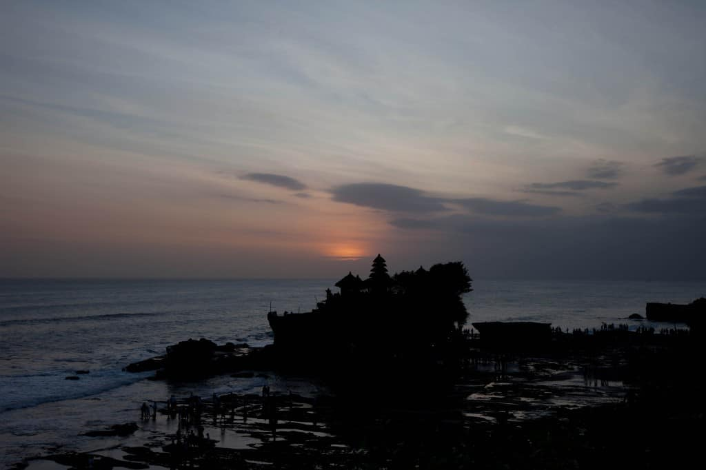 Bali, Indonesia, Temple, Sunset