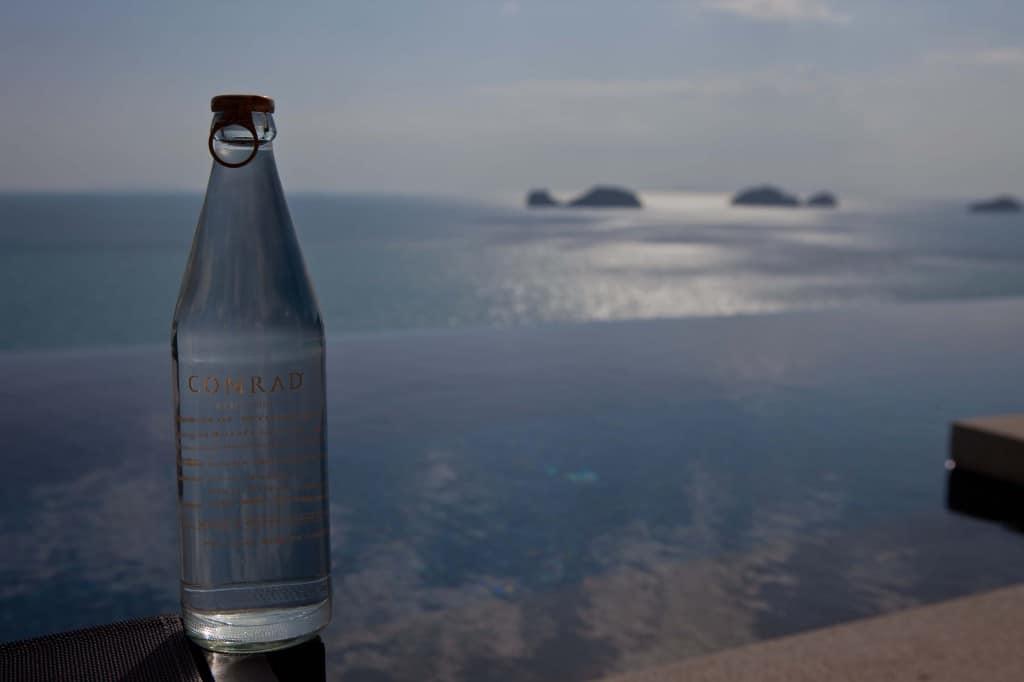 Custom Conrad Koh Samui Glass Bottled Water