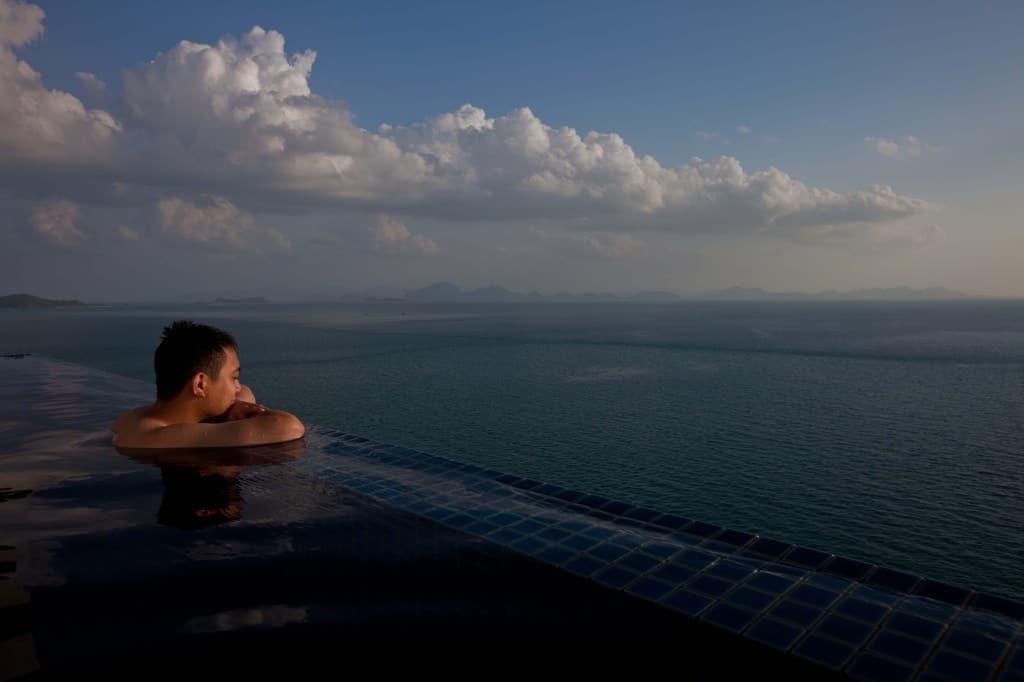 Enjoying the Infinity Views at Conrad Koh Samui