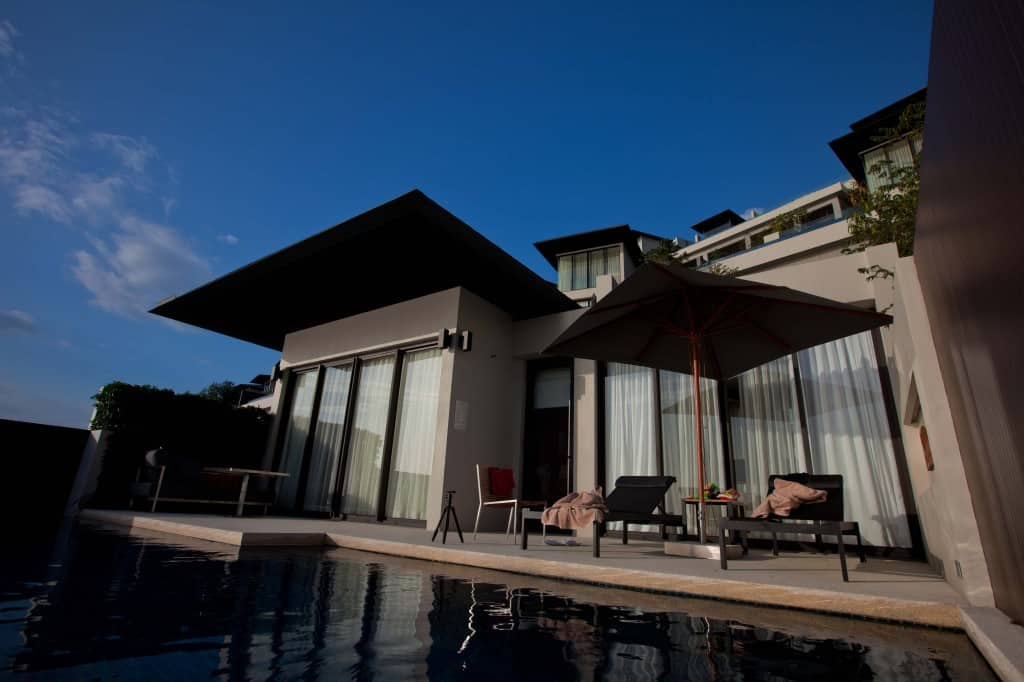 Look Back at the Conrad Koh Samui Suite From the Pool