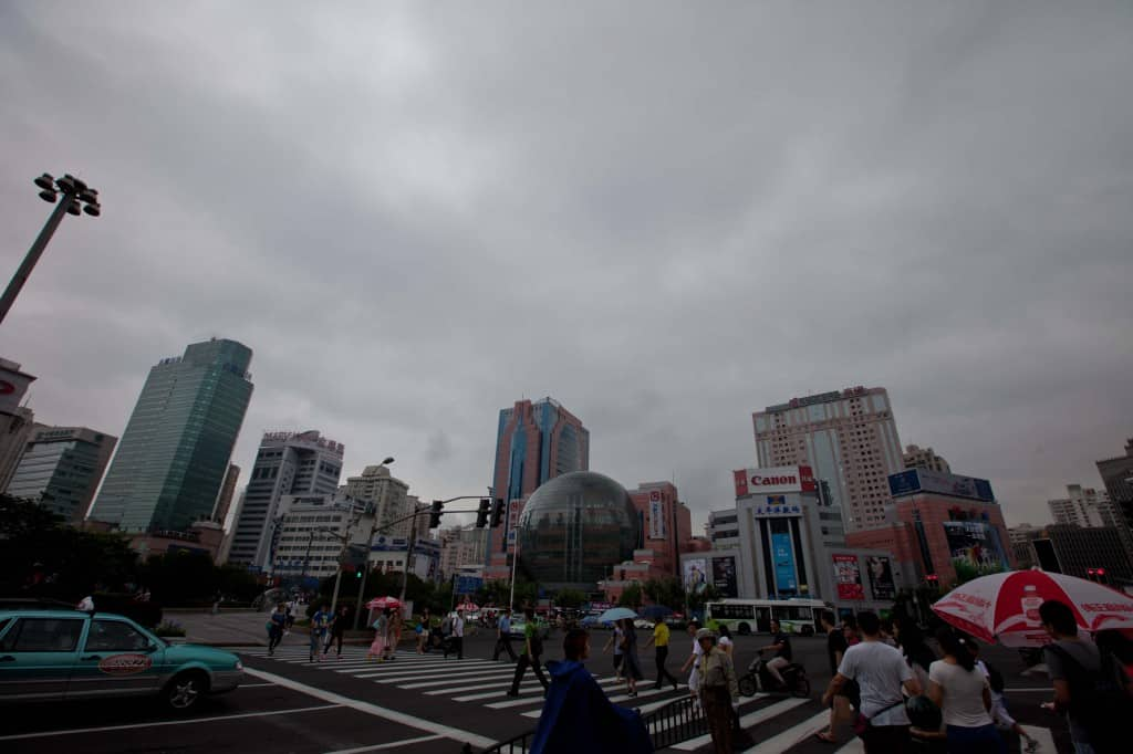 xujiahui intersection in Shanghai
