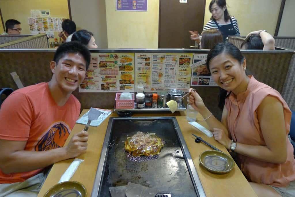 okonomyaki is one of the must try foods in osaka