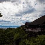 view from kiyomizudera temple in higyashima kyoto