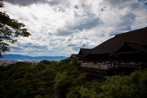 Beautiful view of the Kiyomizu-dera Temple.