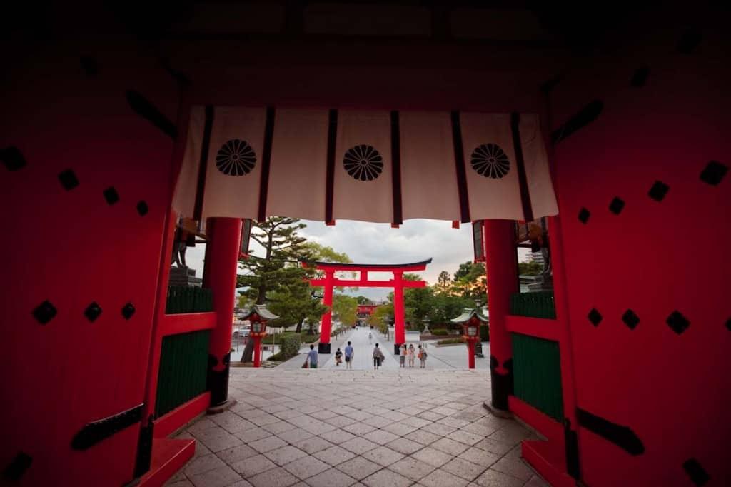 Walking out of Fushimi Inari