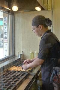 Takoyaki master near Miyajima