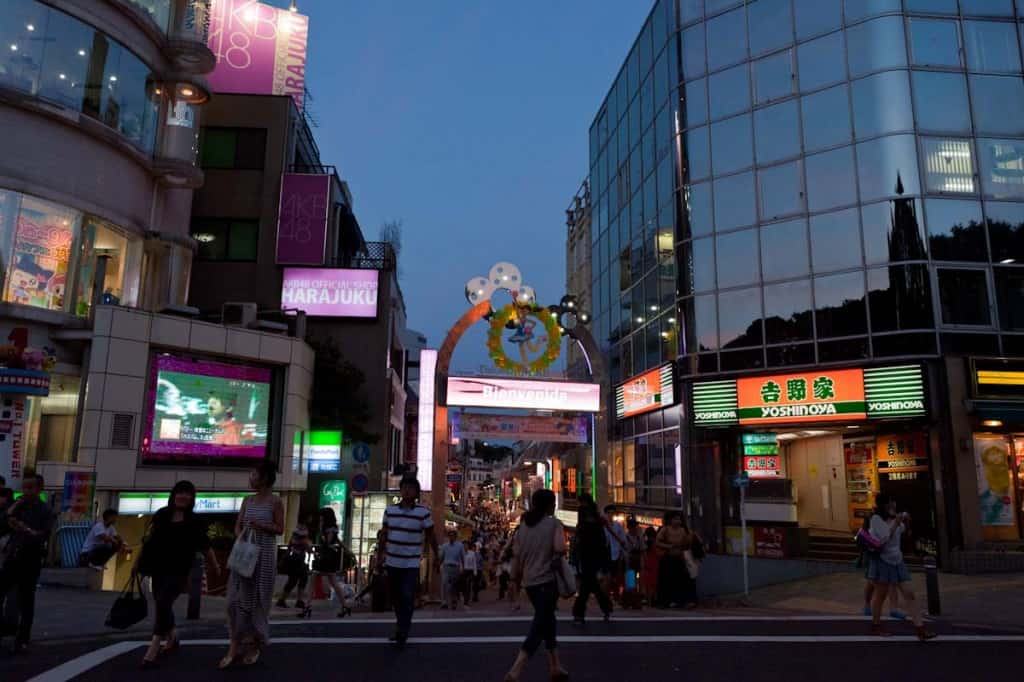 entrance to harajuku takeshita street - great area to stay near in Tokyo