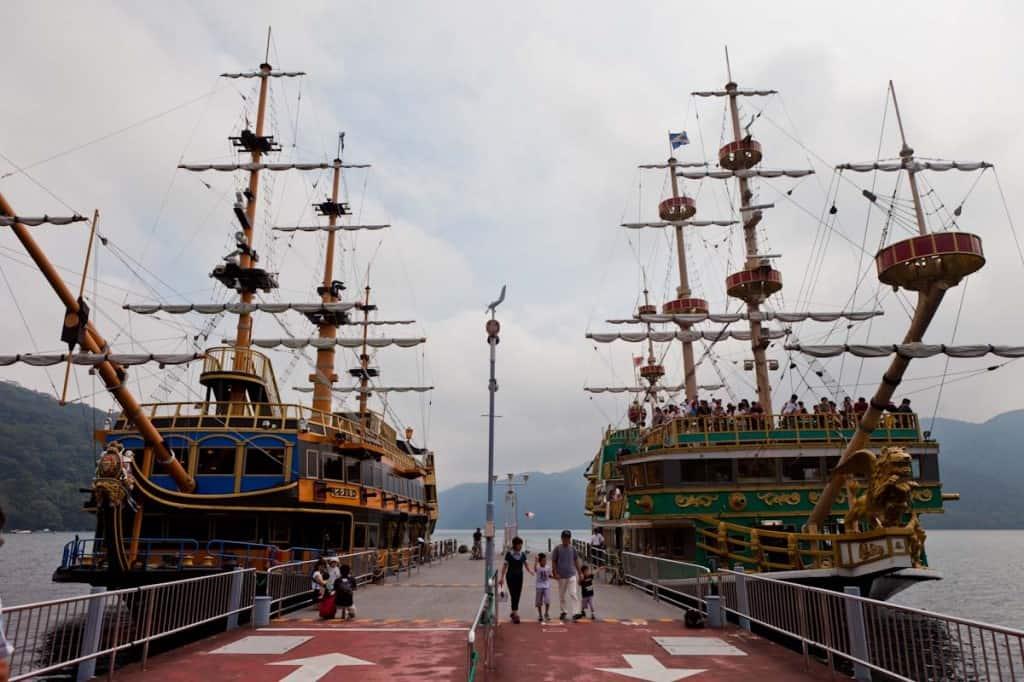 lake ashi pirate cruise ships - 12 day itinerary in japan