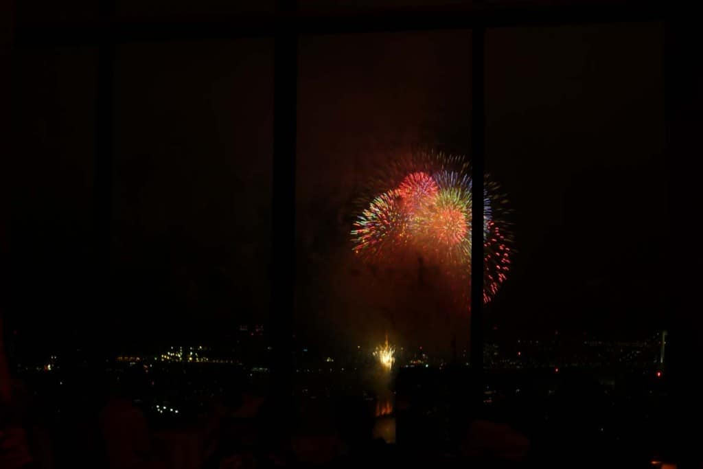 Fireworks from Tokyo Bay