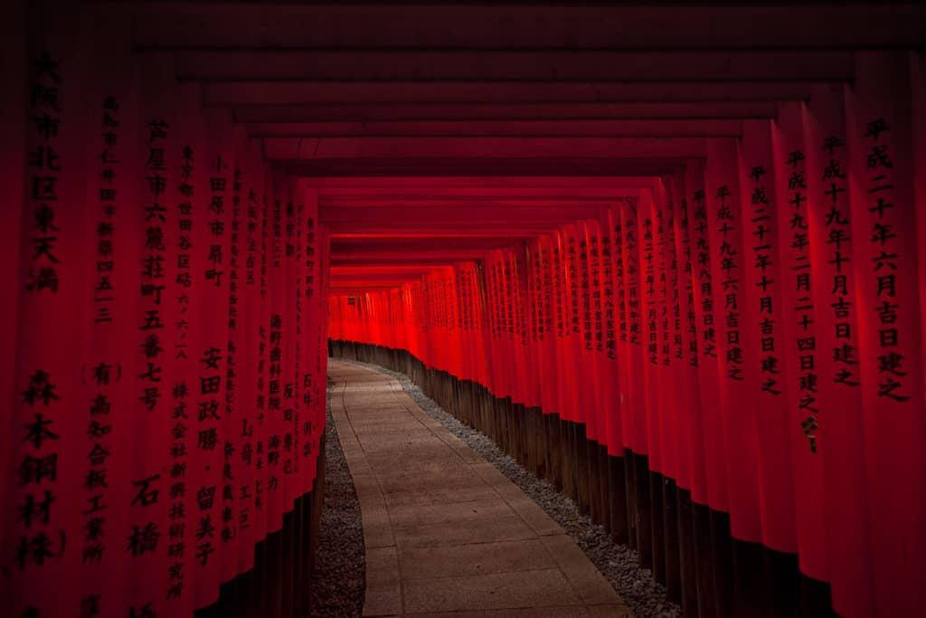 12 day itinerary in Japan - visiting kyoto fushimi inari red torii gates
