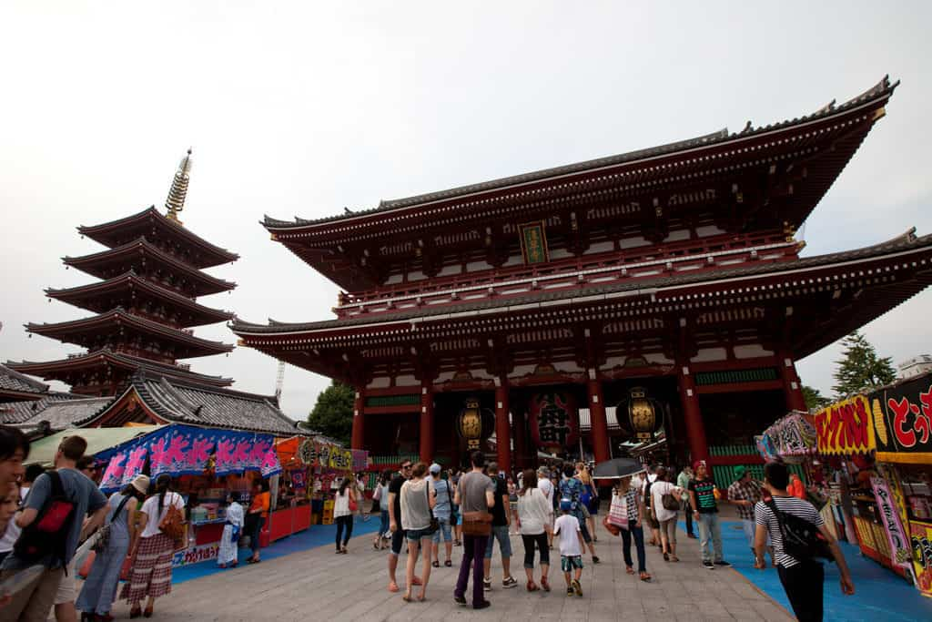asakusa temple in tokyo - where to stay in tokyo