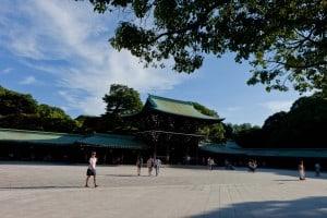 Inside Meiji Shrine in Tokyo.