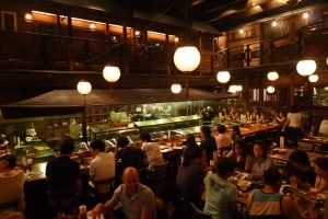 In Gonpachi - Inspiration behind Kill Bill's Japanese restaurant scene.