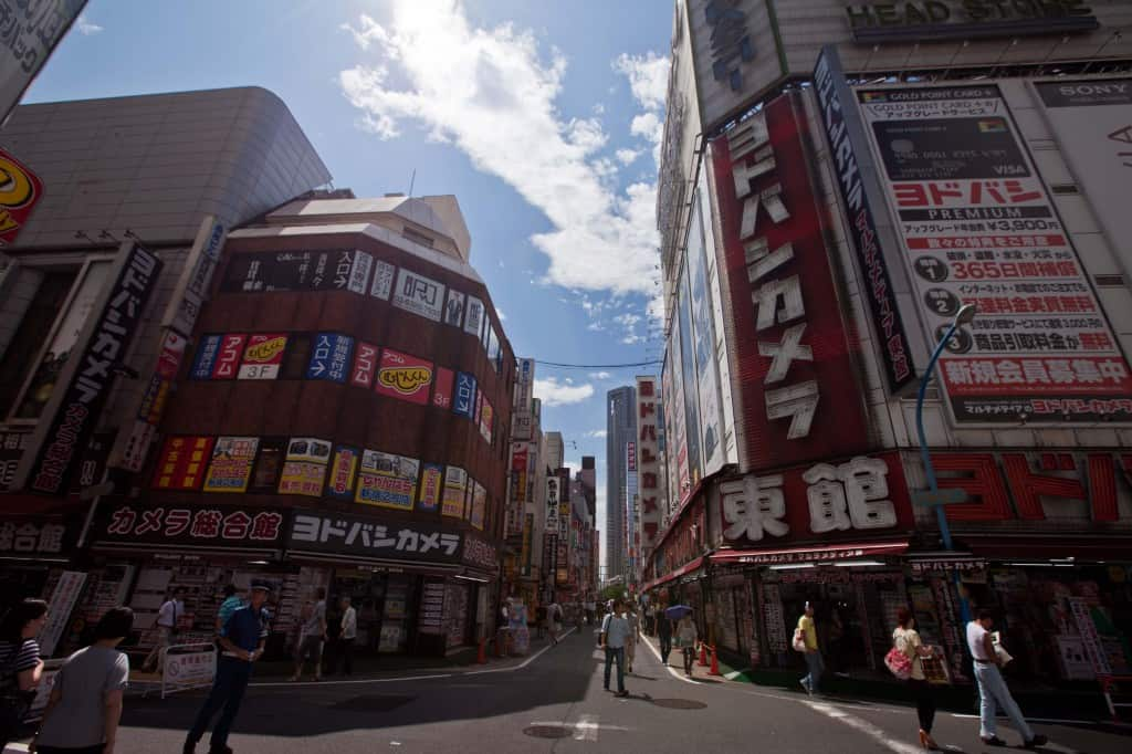 electronic area of shinjuku are convenient to get to if you stay here