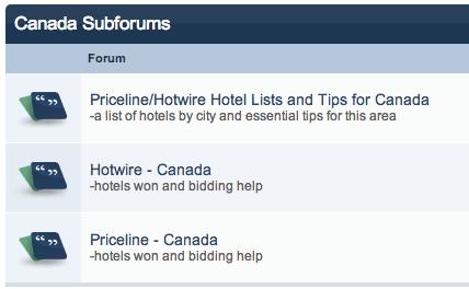 Better Bidding Canada subforum Priceline