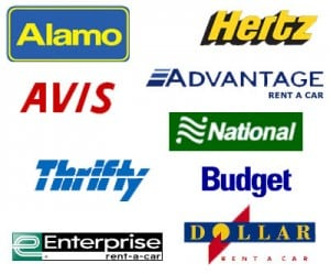 avis thrifty enterprise alamo hertz national budget dollar car rental logos