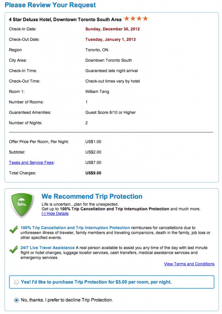 Priceline Review Bid
