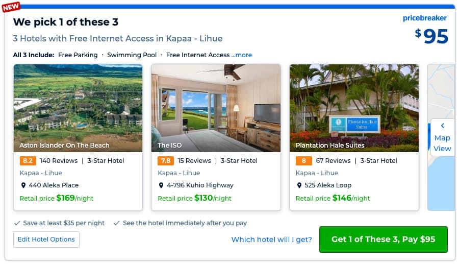 how does priceline pricebreakers work in kauai