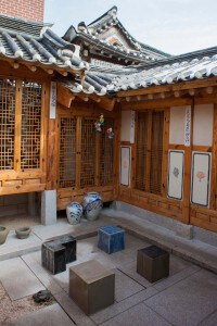 The museum was set in a traditional korean house which was neat to see
