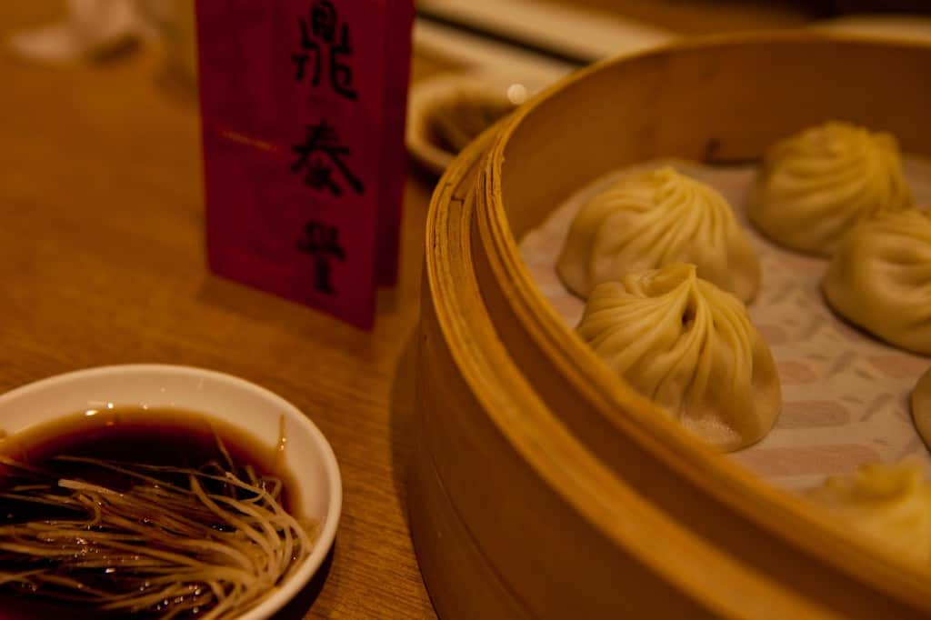 top activity in shanghai is to eat steamed soup dumpling xiao long bao at Din Tai Fung