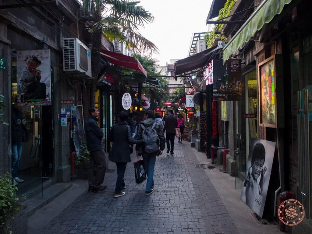 tian zi fang market street in shanghai