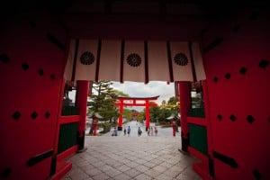 Exiting Fushimi Inari