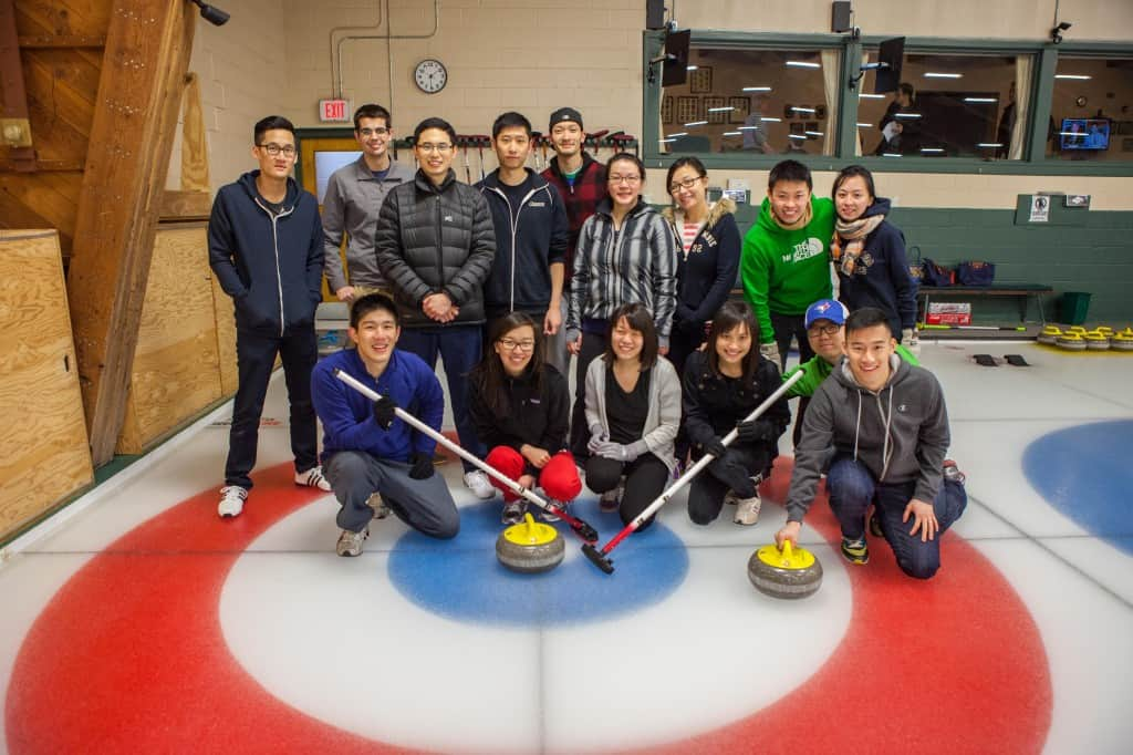 how to plan a curling event with friends at one of the curling clubs in toronto