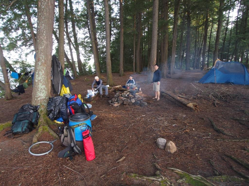 algonquin portage canoeing second campsite