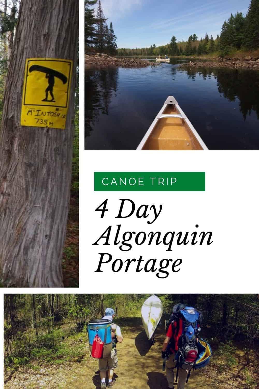An Epic 4 Day Algonquin Portage Canoe Trip