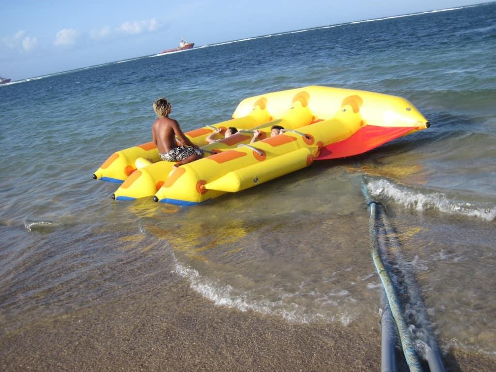 flying fish water sport at conrad bali review