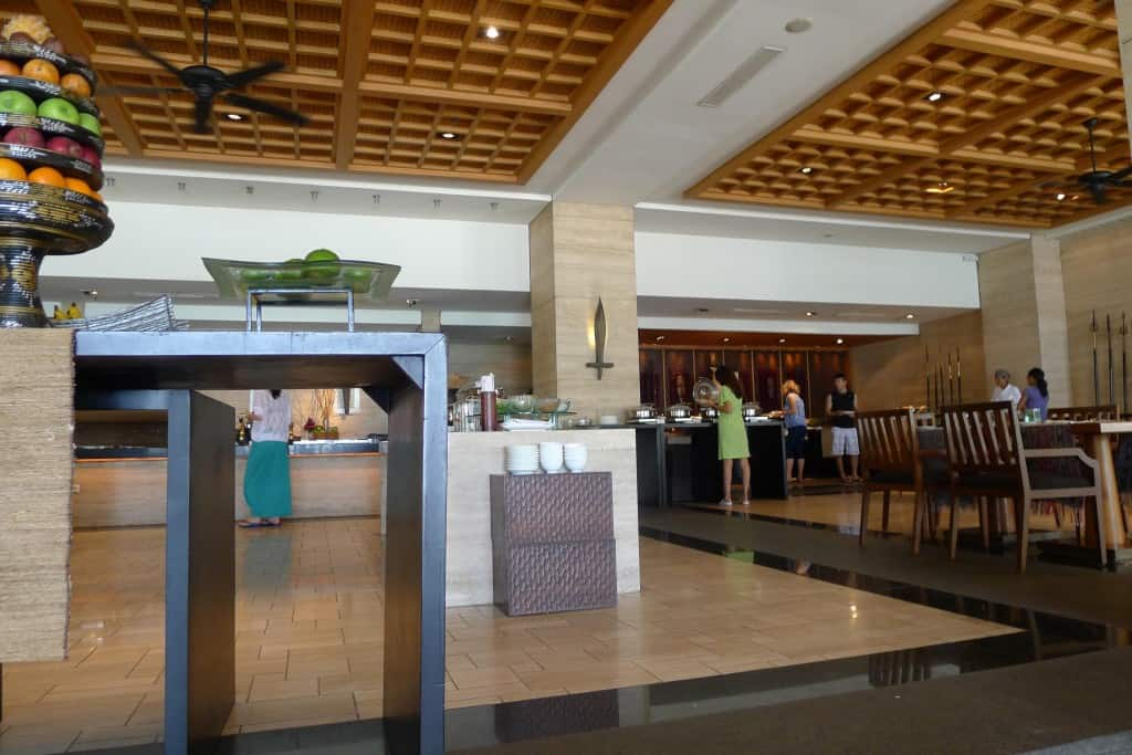 suku breakfast at conrad bali - view from the table