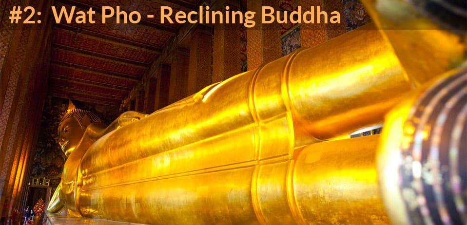 wat pho reclining buddah is second on list of top things to do in bangkok