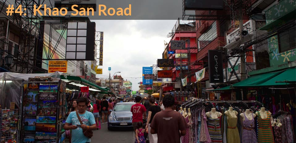 khao san road in best things to do in bangkok