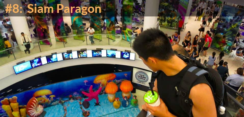 siam paragon shopping mall in bangkok thailand