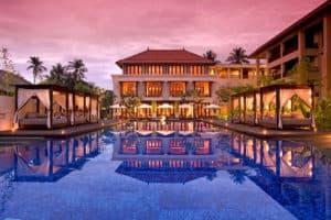 conrad bali pool sunset luxury stay with 5 day bali itinerary