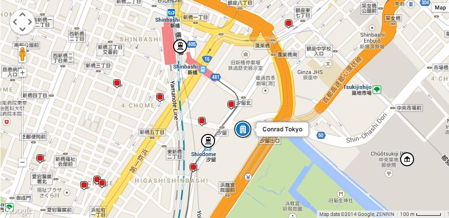 Where is Conrad Tokyo located