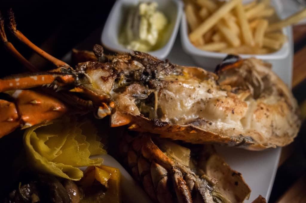 Maldivian Lobster at the Rangali Bar.