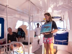 Katie, one of the founders of the Maldives Whale Shark Research Programme and guide for the excursion.