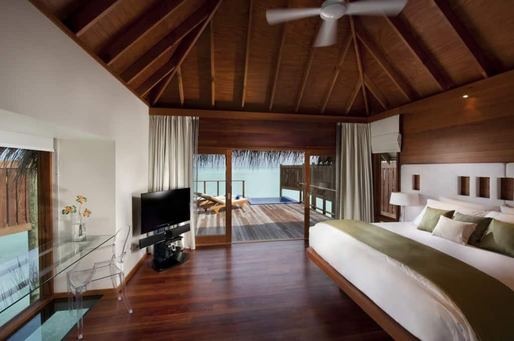 water villa conrad maldives interior