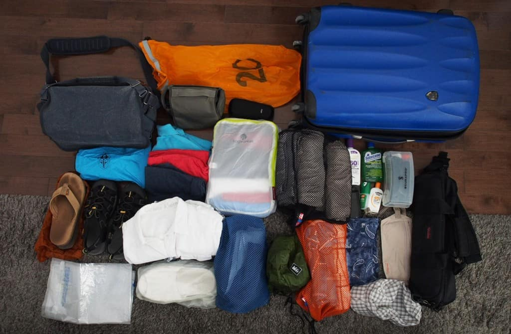 packed items for trip to conrad maldives