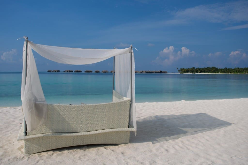 Quiet Zone beach loungers.
