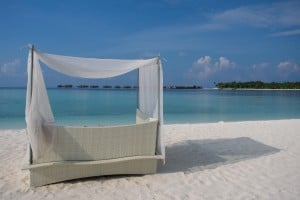 These Quiet Zone beach loungers are magazine worthy.