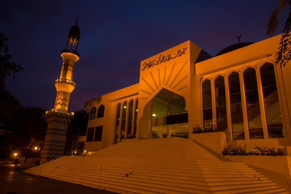 The newest mosque in the city.