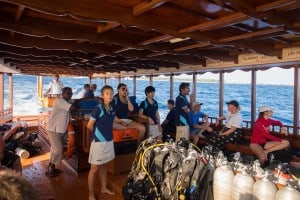 Almost a one hour journey from the Conrad to our first dive site.
