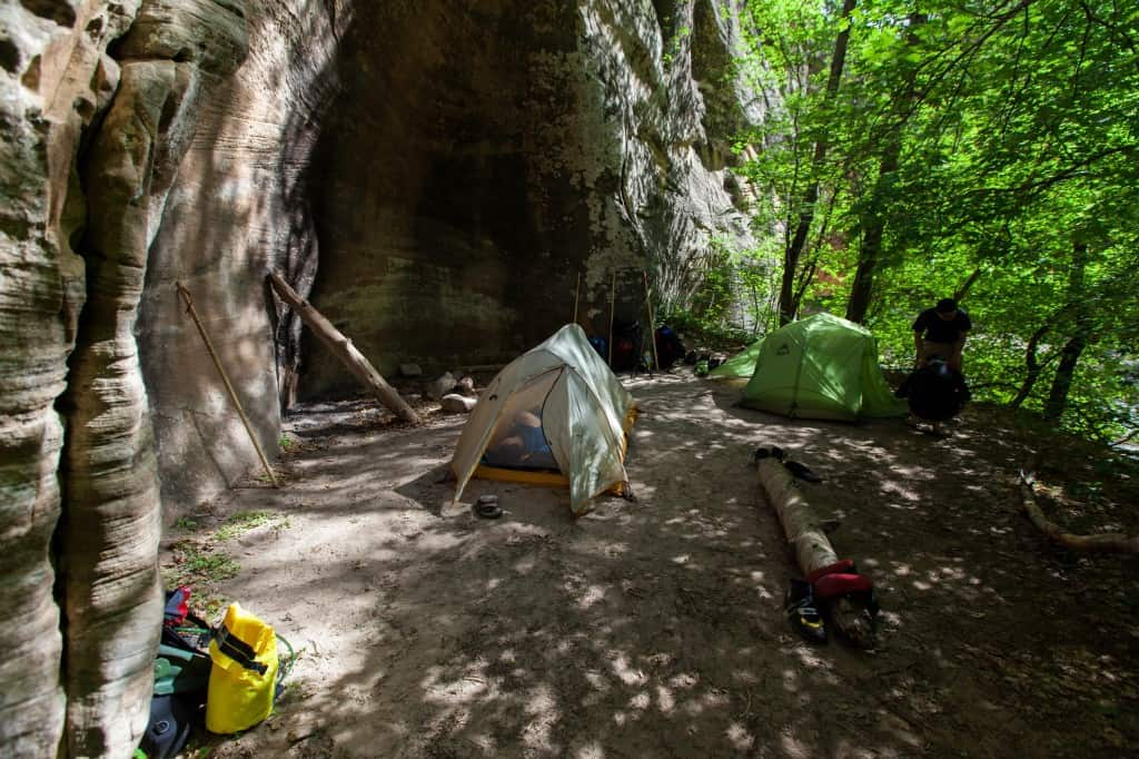 campsite 9 on the narrows top down hike zion national park