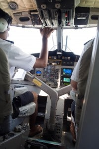 Pilots doing their thing in flip flops.