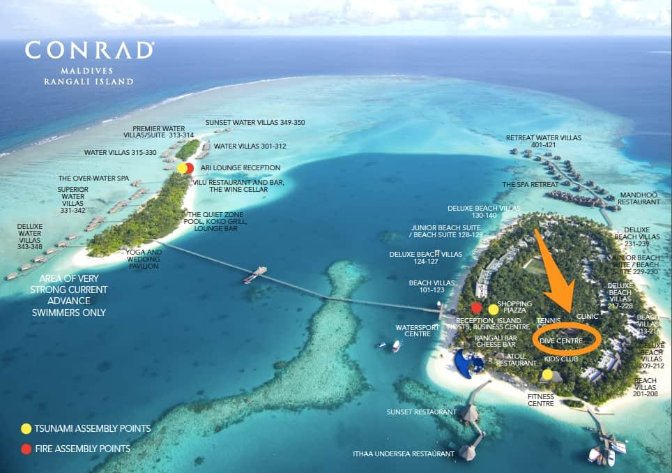 Conrad Maldives Dive Center Location