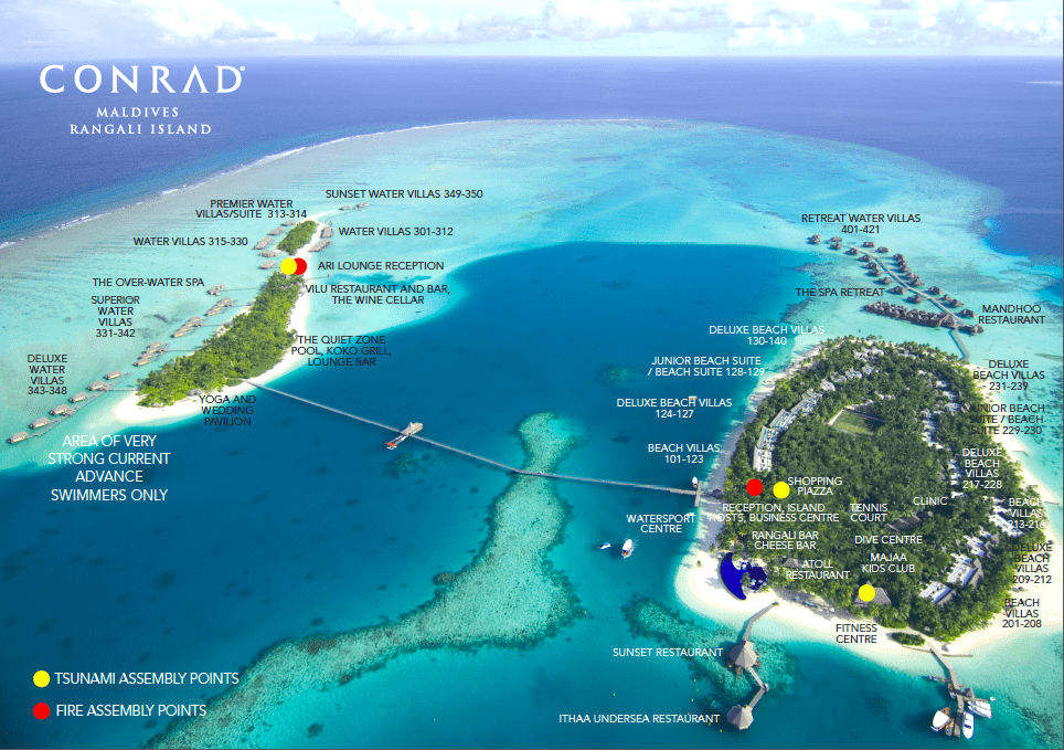 The Conrad Maldives Island Map