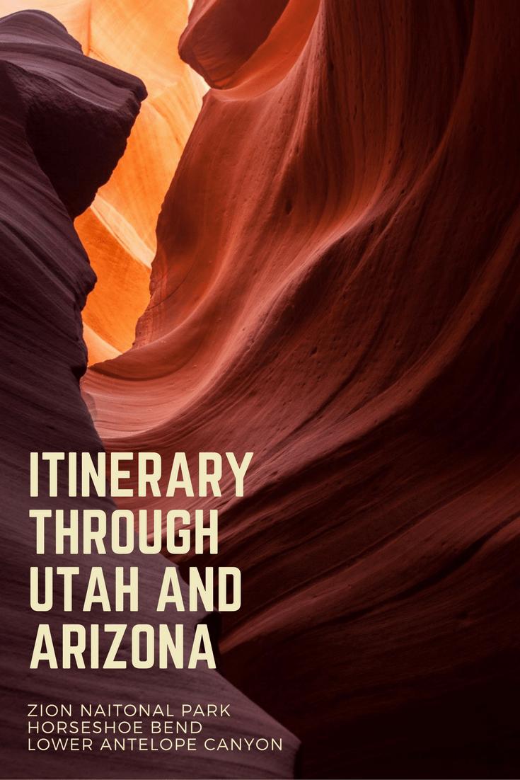 10 Days Utah and Arizona Hiking and Photography  - Packing List and  Itinerary