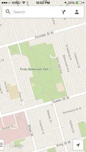 Google Offline Maps Save General Area Step 1